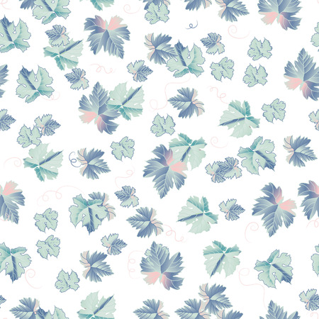 Fantasy leaves seamless pattern 向量圖像