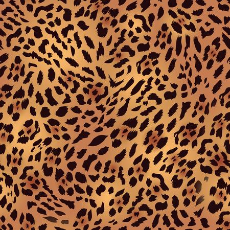 zoologico: Safari de piel de leopardo de impresi�n de vectores sin fisuras Vectores