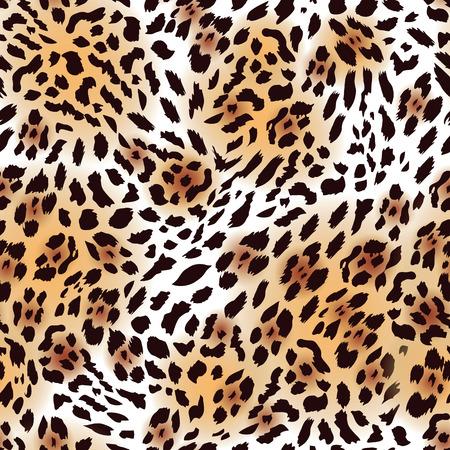 타는 사람: 극동 표범의 모피 원활한 벡터 인쇄