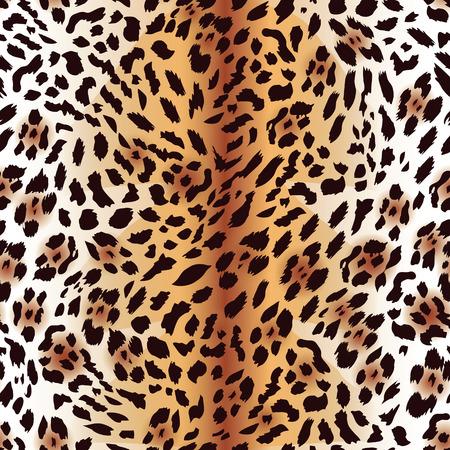 fur: Amur leopard fur seamless vector print