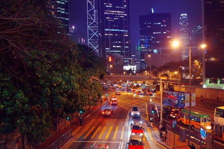 night traffic: Night traffic in Hong Kong