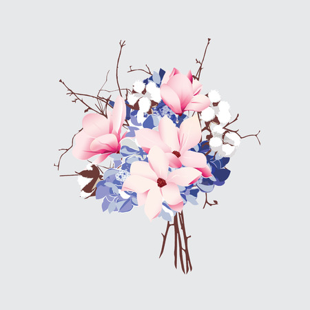french style: French style vector bouquet