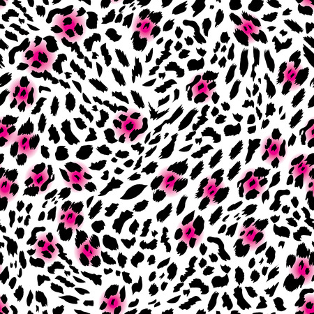 Glam leopard seamless vector print Vector