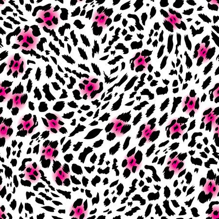 glam: Leopardo Glam vector sin fisuras de impresi�n