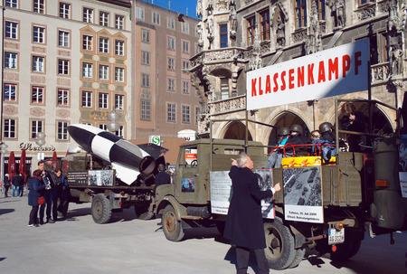 anti war: Communist anti-war political meeting at Munich