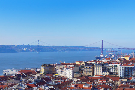 25th: 25th of April Bridge in the Lisbon, Portugal