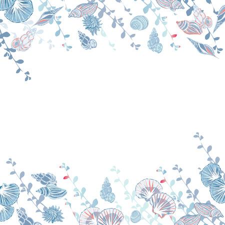 calming: Calming blue sea vector card