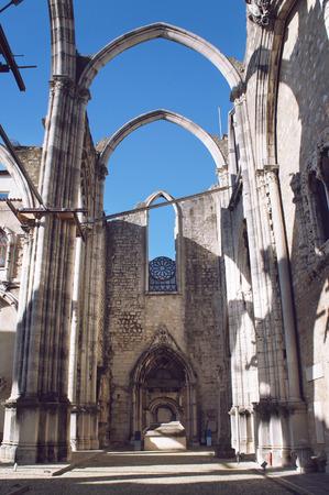 carmo: Ruins of Carmo Convent, Lisbon Stock Photo