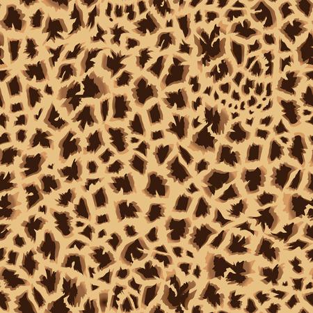 masai: Masai giraffe skin beige seamless vector print Illustration