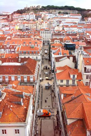 justa: Lisbon spring skyline taken from Santa Justa Lift