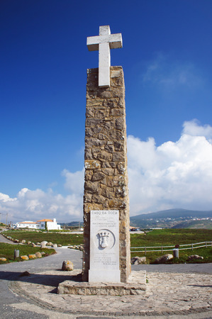 extent: Monument declaring Cabo da Roca as the westernmost extent of continental Europe Editorial
