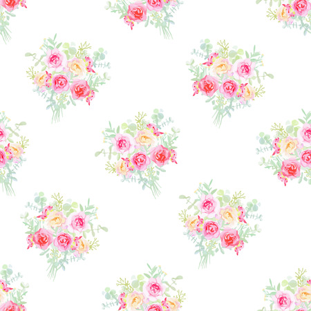 french style: French style seamless pattern Illustration