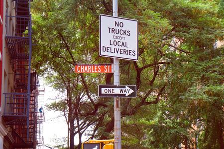 greenwich: Road signs of Greenwich village district, New York
