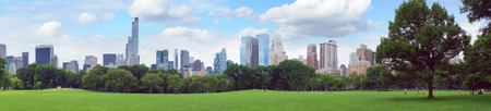 futuristic city: New York Central Park panorama, United States Stock Photo