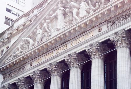 new york stock exchange: New York Stock Exchange, Wall street on summer morning. Editorial