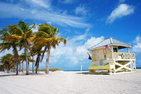 key biscayne: Crandon park Beach of Key Biscayne, Miami, USA Editorial