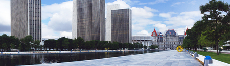 new york state: New York State Capitol and Empire State Plaza in Albany, New York state capital, USA. Stock Photo