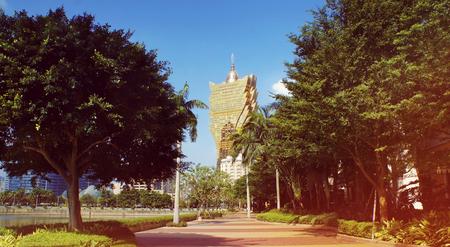 Macau city street view