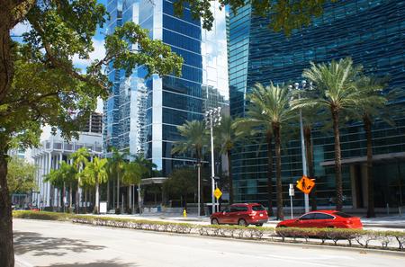 unites: Brickell avenue of Miami Downtown, Unites States Stock Photo