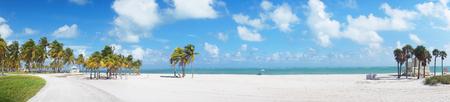 key biscayne: Panoramic view at Crandon park Beach of Key Biscayne, Miami, USA