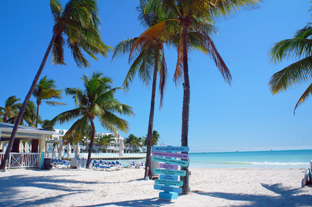 key west: Sunny South Beach of Key West near Atlantic Ocean