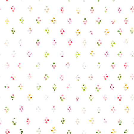 Rainbow round blob confetti seamless print 矢量图像