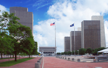empire: Empire State Plaza in Albany, New York state capital, USA Editorial