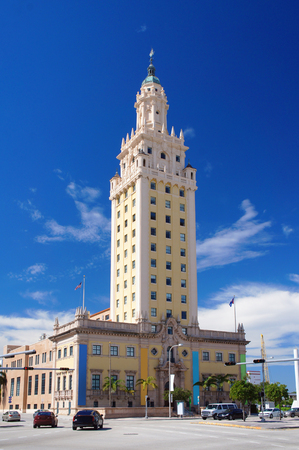 freedom tower: Freedom Tower, touristic attraction building, in the Miami Downtown.