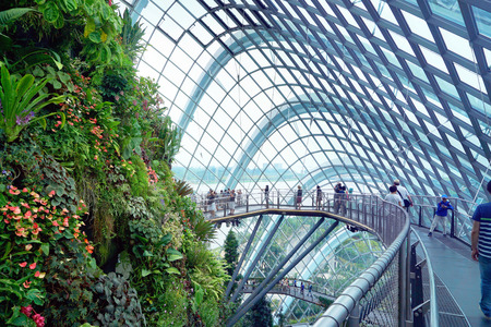 Gardens by the Bay Cloud forest pavillion Editorial
