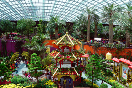gardens by the bay flower dome pavillion
