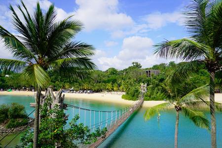 Palawan Beach of Sentosa Island 스톡 콘텐츠