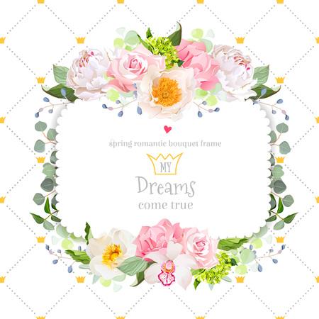 assortment: Stylish floral square vector design frame