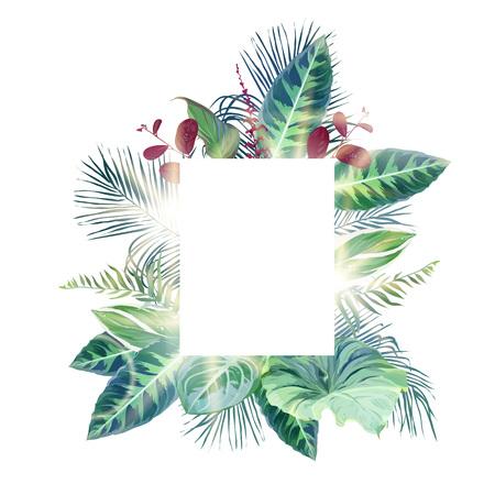 Groen, smaragdgroen en van Bourgondië rood bladeren vectorontwerpkader