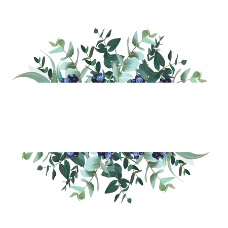 Horizontal botanical vector design banner Illustration