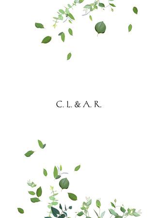 Cadre de vecteur minimaliste à base de plantes Banque d'images - 97899227