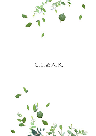 Herbal minimalistic vector frame