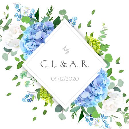Rhombus floral label frame