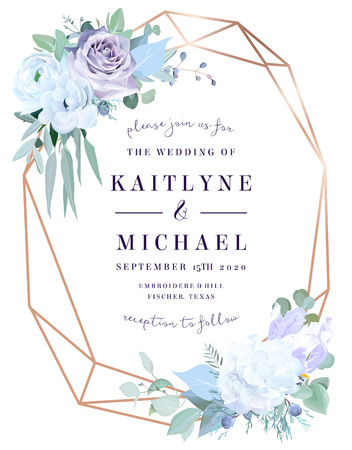 Lavender dusty rose, white hydrangea, anemone, eucalyptus
