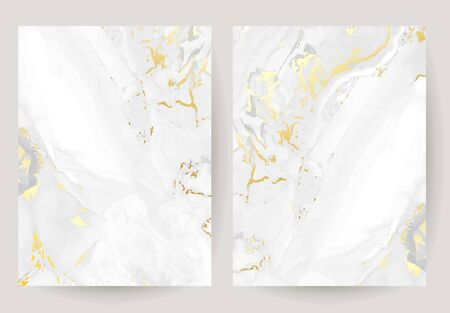 Golden marble vector texture. Magic rich glowing background. Elegant geometric template.Grey marbled stone design frame. Gray textured. Simple and sophisticated. All elements are isolated and editable