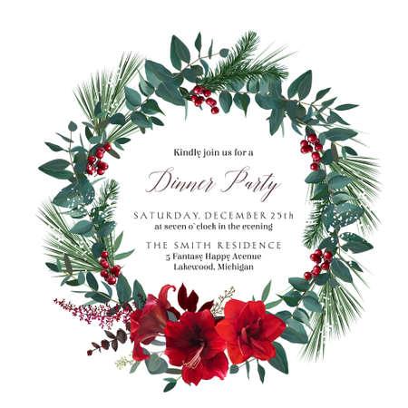 Merry Christmas and Happy New Year seasonal card.