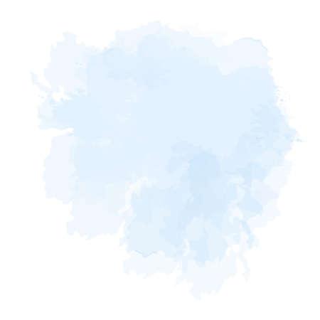 Blue, cyan, dusty mauve purple watercolor vector splash 일러스트