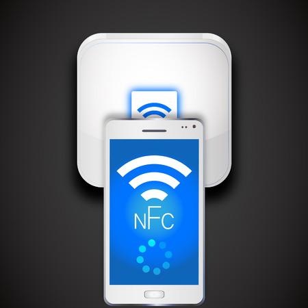 nfc: NFC(Near Field Communication) Illustration