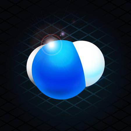 h2o: H2O molecule Illustration