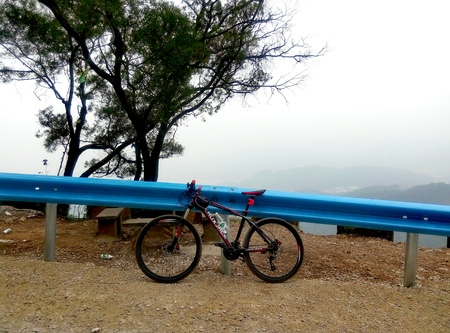 road bike: Mountain bike at the road side