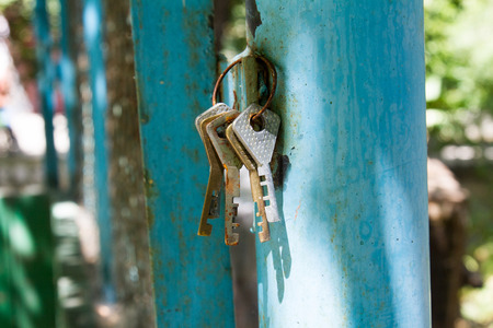corroding: Found rusting old house keys