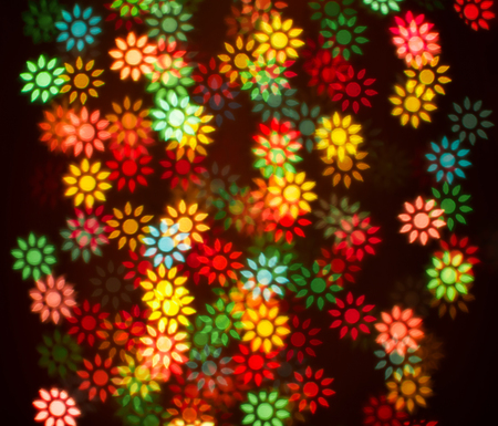blurring: Blurring lights bokeh background of colorful flowers