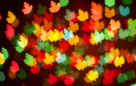 blurring: Blurring lights bokeh background of colorful leaves