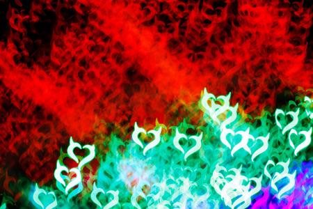 fateful: Blurring lights bokeh background of Devil hearts