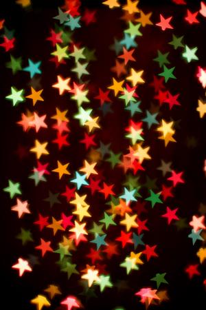 blurring: Blurring lights bokeh background of colorful stars Stock Photo