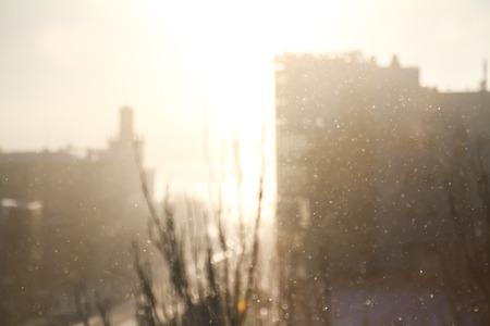 snowfall: Blurred background of snowfall